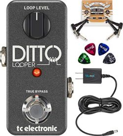 TC Electronic Ditto Looper Effects Pedal Bundled with Blucoil Slim 9V 670ma Power Supply AC Adap ...