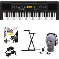Yamaha PSR-EW300 EPY Educational Keyboard Pack with Power Supply, Bolt-On Stand, Headphones, USB ...
