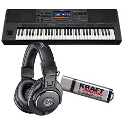 Yamaha PSR-SX900 Arranger Workstation Keyboard with ATH-M30 Headphones and Flash Drive