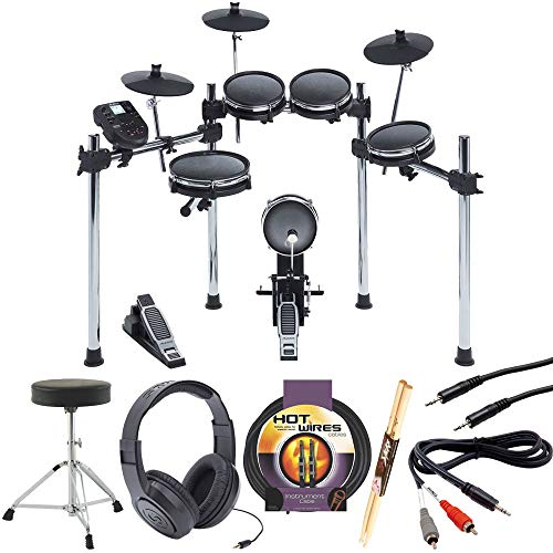Alesis SURGE MESH KIT Eight-Piece Electronic Drum Kit with Mesh Heads +Drum Throne +Samson Stere ...