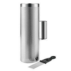 Flexzion Metal Guiro with Scraper Shack 4″ x 12″ – Round Cylinder Stainless St ...