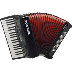 Hohner A16421S Bravo Line Facelift III -80 Bass Chromatic Piano Accordion with Gig Bag, Black