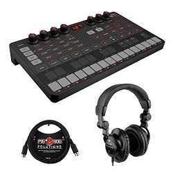 IK Multimedia UNO Synth Portable Monophonic Analog Synthesizer with Polsen HPC-A30 Headset & ...