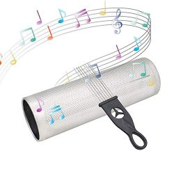 Volwco Stainless Steel Guiro 12×4 inch,Latin Percussion Instrument Musical Training Tool with Gu ...