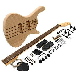 Seismic Audio – SADIYG-20 – Premium Professional Style Bass Electric DIY Guitar Kit
