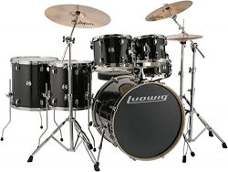 Ludwig Element Evolution 6-Pc Drumset with Zildjian ZBT Cymbals – 22 Inches – Black  ...