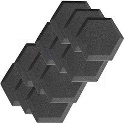 12 Pack Hexagon (Hexagonal) Acoustic Foam Studio Soundproofing Foam Tiles 6″ X 6″ X  ...