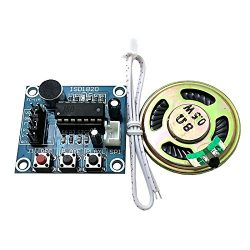 SUNKEE ISD1820 recording module voice module the voice board telediphone module board with Micro ...
