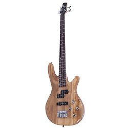 Exquisite Stylish IB Bass Guitar with Power Line and Wrench Tool (Burlywood)