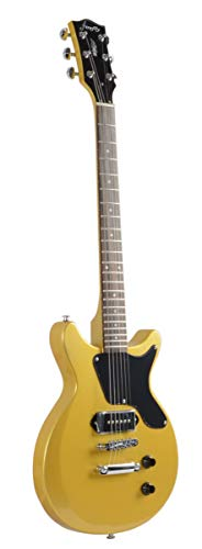 Firefly FFDCS Solid Body Electric Guitar (Gold).