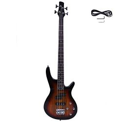 GLARRY Bass Guitar Full Size 4 String Exquisite Stylish Bass with Power Line and Wrench Tool (Su ...