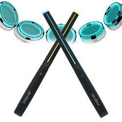 AEROBAND Air Drum Sticks Electronic Drum Set with Light, Bluetooth Wireless Connection Pocketdru ...