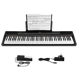 Donner DEP-10 Beginner Digital 88 Key Full Size Semi Weighted Keyboard, Portable Electric Piano  ...