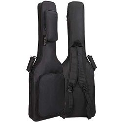 GLEAM Electric Guitar Gig Bag – Thicker 0.3 Inch Sponge Padding with Two Large Pockets Wat ...