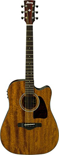 Ibanez AW54CEOPN Artwood Dreadnought Acoustic/Electric Guitar – Open Pore Natural