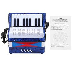 Bnineteenteam 17 Key 8 Bass Piano Accordion with a Manual Suitable for Beginners(Dark Blue)