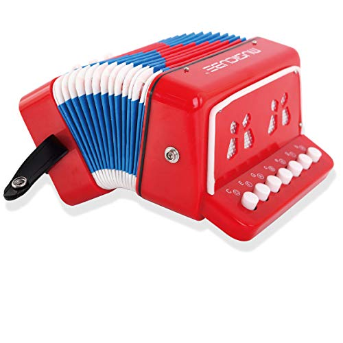 MUSICUBE 10 Keys Accordion, Accordion for Kids, Solo and Ensemble, Musical Instrument for Home a ...