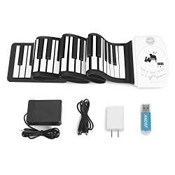 Portable 88 Keys Roll Up Piano – ANDSF Upgrade Version Flexible Eelectronic Piano with int ...