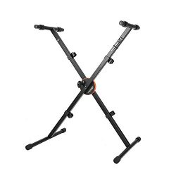 Neewer X-Style Heavy Duty Folding Keyboard Stand with Height Control Lock and Non-slip Rubber Ca ...