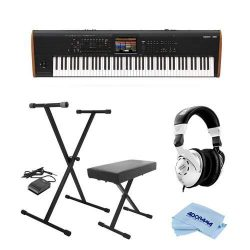 Korg Kronos 88 Key Music Workstation with SGX-2 Engine, Kronos System Version 3.0 Bundle with On ...