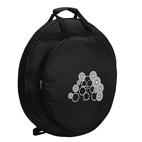 Tosnail 22″ Cymbal Gig Bag with Carry Handle and Shoulder Straps – Great for Dust-pr ...