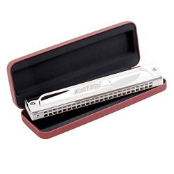 East top 24 Holes Professional Tremolo Harmonica Key of F Mouth Organ Musical Instrument T2406S
