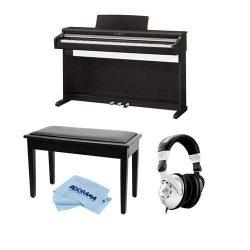 Kawai KDP110 88-Key Digital Piano, Premium Rosewood – Bundle With Behringer HPS3000 High-P ...