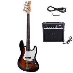 Bass with Electirc Bass Amplifier Power Wire Tools Newbie Professional Nicely (Sunset)