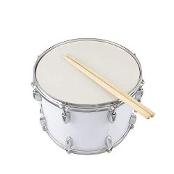 Marching Snare Drums,14 x10 inches Marching Drum Drumsticks Key Strap White,Student Marching Sna ...