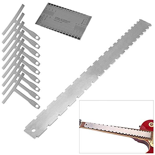 Activists Guitar Neck Notched Straight Edge Luthiers Tool with 9 Understring Radius Gauge and St ...