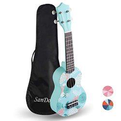 Sandona AK60F Soprano Basswood Ukulele,Children Musical Instruments, 21 Inch with Gig Bag for ki ...