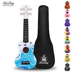Honsing Kids Ukulele,Soprano Ukulele Beginner,Hawaii kids Guitar Uke Basswood 21 inches with Gig ...