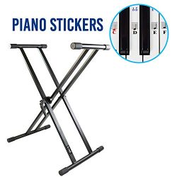 Piano Keyboard Stand – Double X, Preassembled, Infinitely Adjustable, Heavy-duty, the Perf ...