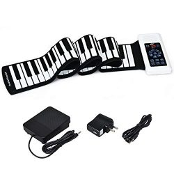 Costzon Roll Up Piano, 88 Keys Upgraded Electronic Piano Keyboard for Kids, Portable Piano with  ...