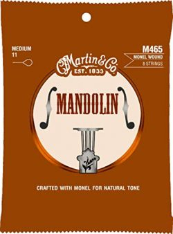 Martin Mandolin Monel Wound 8-Strings, Medium (M465) Med