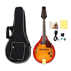 8-String Mandolin Instrument,Sunburst Mahogany Rosewood A Style Acoustic Electric Mandolin with  ...