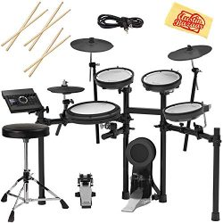 Roland TD-17KV-S Electronic Drum Set Bundle with Drum Throne, 3 Pairs of Sticks, Audio Cable, an ...