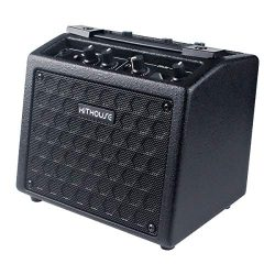 Kithouse B9 Electric Guitar Amp Rechargeable Bass Guitar Amplifier Portable with 18 Types Drum B ...