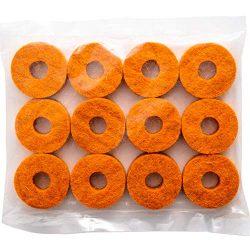 Stage Rocker Orange Wool Cymbal Felts, 12pcs – pack
