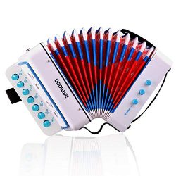 ammoon 10 Keys Accordion Toy for Kids ABS Material Musical Instrument Toy for Children Christmas ...