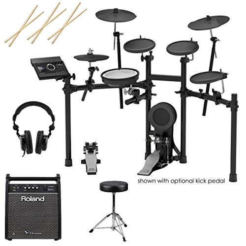 Roland TD-17KL V-Drums Electronic Drum Set – With Roland PM-100 80W Personal Drum Monitor, ...