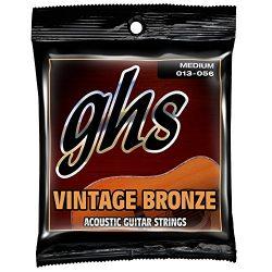 GHS Strings Acoustic Guitar Set (Medium, Vintage Bronze, 13/56)