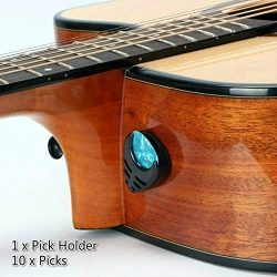 Guitar Picks & Guitar Pick Holder Easy to Paste on the Guitar Suitable for Acoustic Guitar E ...