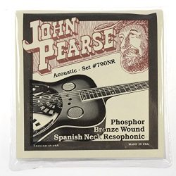 John Pearse Resophonic Guitar Phosphor Bronze Spanish Neck, .013 – .056, 790NR