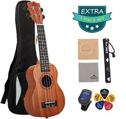 EastRock Soprano Concert Ukulele 21 Inch Ukelele Set for Kids Beginners & Adults with Bag Tu ...