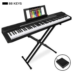 Best Choice Products 88-Key Full Size Digital Piano Electronic Keyboard Set w/Semi-Weighted Keys ...
