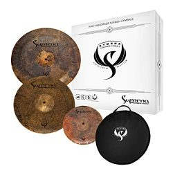 Symrna Cymbals Hand Hammered Cymbal Pack Made in ISTANBUL (15″Crash/17″China/10̸ ...