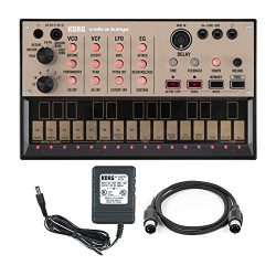 Korg Volca Keys Analog Synth Machine with Power Supply and MIDI Cable Bundle (3 Items)
