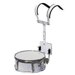 Vaorwne Marching Snare Drum Backing Percussion Drum Snare Shoulder Strap,White Steel Performer M ...