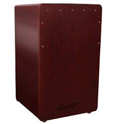 Sawtooth Satin Mahogany with Gloss Cherry Mahogany Back and Sides Standard Size Cajon